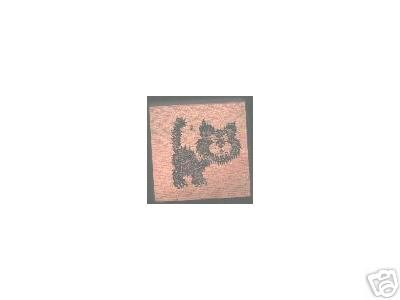 Halloween Cat Black rubber stamp