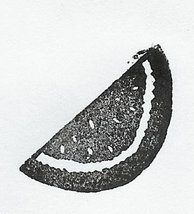 Watermelon slice just right for summer Rubber Stamp - $7.00