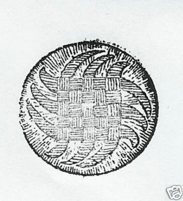 Round woven button design Rubber Stamp