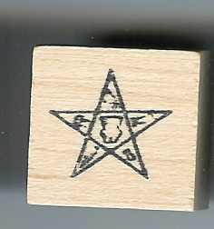 Masonic Rubber Stamp Eastern Star logo large
