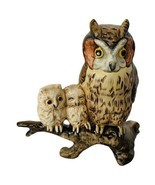 Owl Figurine Goebel Hummel West Germany W barn brown snow bird perch vtg... - $64.35