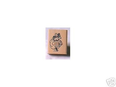 Football players 2 rubber stamp