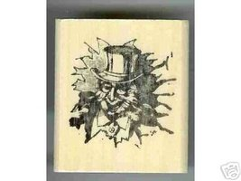 Uncle Sam Looking guy Patriotic rubber stamp I want YOU - $6.00
