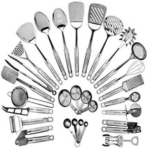 Stainless Steel Kitchen Utensil Set - 29 Cooking Utensils - Nonstick Kit... - $59.04