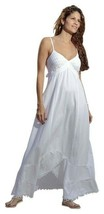 JOLY Organic Cotton Spaghetti Straps Empire A-Line Long Dress - $72.00