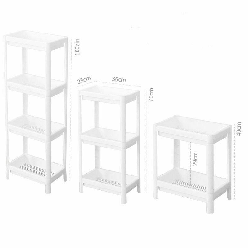 Rack Shelf Kitchen Side Plastic Storage Shelves Multi Functional House Organizer image 6