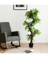 5-Feet Artificial Keel Red VineGreen Leaves Bonsai - $101.55