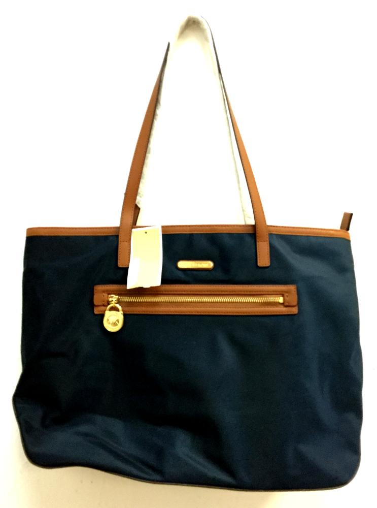 59b083520216 Lyst Michael Kors Kempton Nylon Small Tote Bag In Gray