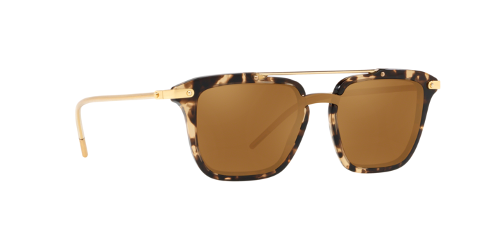 DOLCE & GABBANA PRINCE 4327 Gold Beige Havana Mirrored Sunglasses DG4327-F Men