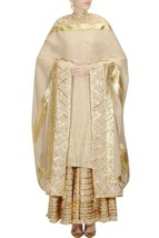 Indian Ethnic Ready to wear Lace Work Border Dupatta Kurti Sharara Suit ... - $235.82