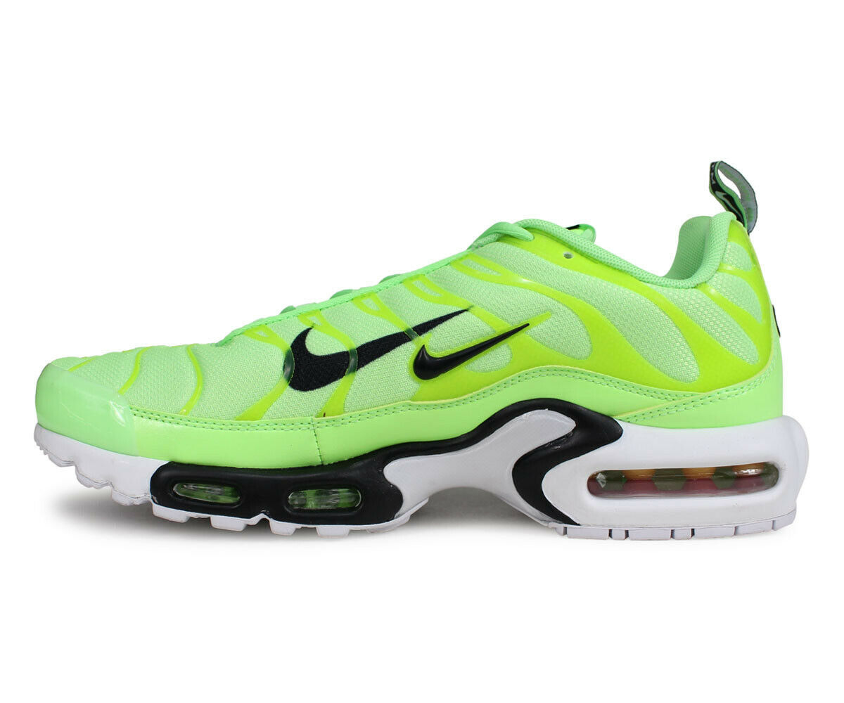 Nike Air Max Plus PRM TN Lime Blast Running Shoes 815994 300 Mens Size 10.5