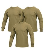 Rothco Military Style Long Sleeve T-Shirt, AR 670-1 Coyote Brown, 3-Pack... - $41.98