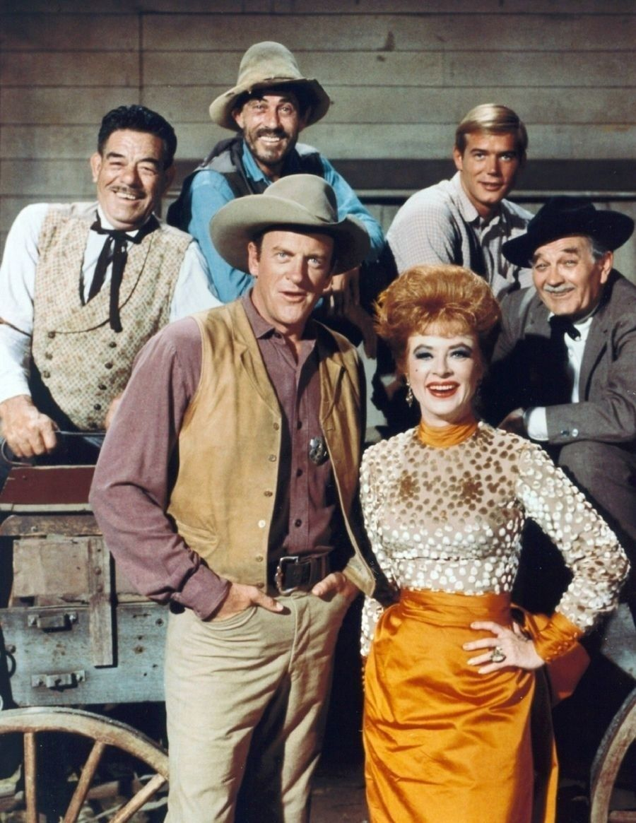 Primary image for Gunsmoke Cast Jim Arness Vintage 22X28 Color Western TV Memorabilia Photo