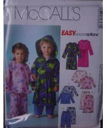 Sewing Pattern Sizes 1-4  Boys & Girls Pajamas and Robe 4643 - $5.99