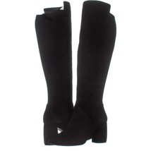 Nine West Kerianna Knee High Pull-On Boots 949, Black/Black Suede, 8 US - $40.31