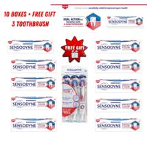 SENSODYNE Sensitivity & Gum Toothpaste - 100g x 10 Boxes (Free 3X Toothbrush) - $207.90