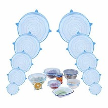Webake Silicone Stretch Lids Various Size Set of 10 Container Tops Elast... - $15.36