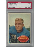 1960 Topps #93 Bobby Layne PSA 3 Steelers  - $24.74