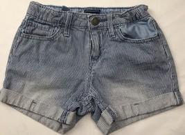 Gap Kids Sz 5 Girls Shorts Stripe White Blue Vintage - $12.86