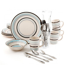 Gibson Home Deluxe Essentials 32pc Dinnerware Combo Set-Blue - $74.89
