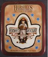Hershey's Chocolate Collector Card Tin Box 36 Packs Dart Flipcard 1995 S... - $9.95