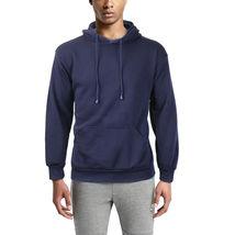Men's Premium Athletic Drawstring Fleece Lined Sport Gym Sweater Pullover Hoodie image 9