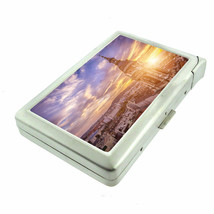 Budapest Hungary D1 Cigarette Case with Built in Lighter Metal Wallet - $12.63