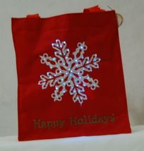 Transpac Imports Inc W1195 Tii Collections Fiber Optic Red Happy Holiday Tote image 3