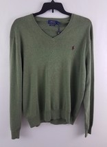 Polo Ralph Lauren Men's Pima V-Neck Sweater Lovvete Heather Green XL - $49.99