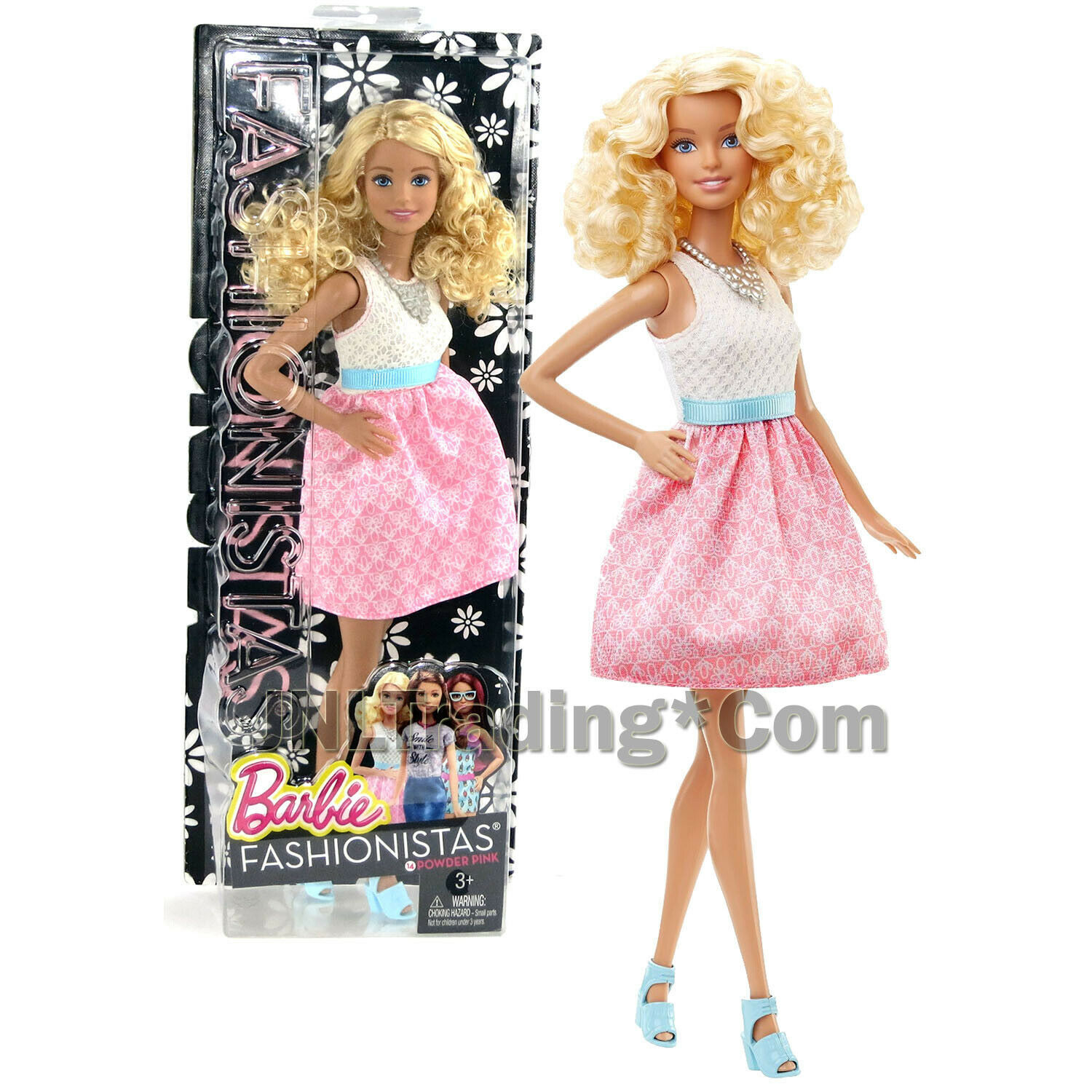 "Primary image for Mattel 2015 Barbie Fashionistas 12"" Doll (DGY57) in Baby Doll Dress pink Skirt"