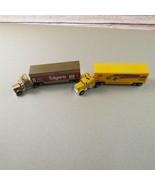 Matchbox NASCAR Racing Semi Trucks Folgers Team Kodak Lot of 2 Kenworth ... - $75.00