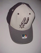 San Antonio Spurs Logo NBA adidas Adult Unisex Black Gray Cap One Size New - $24.74