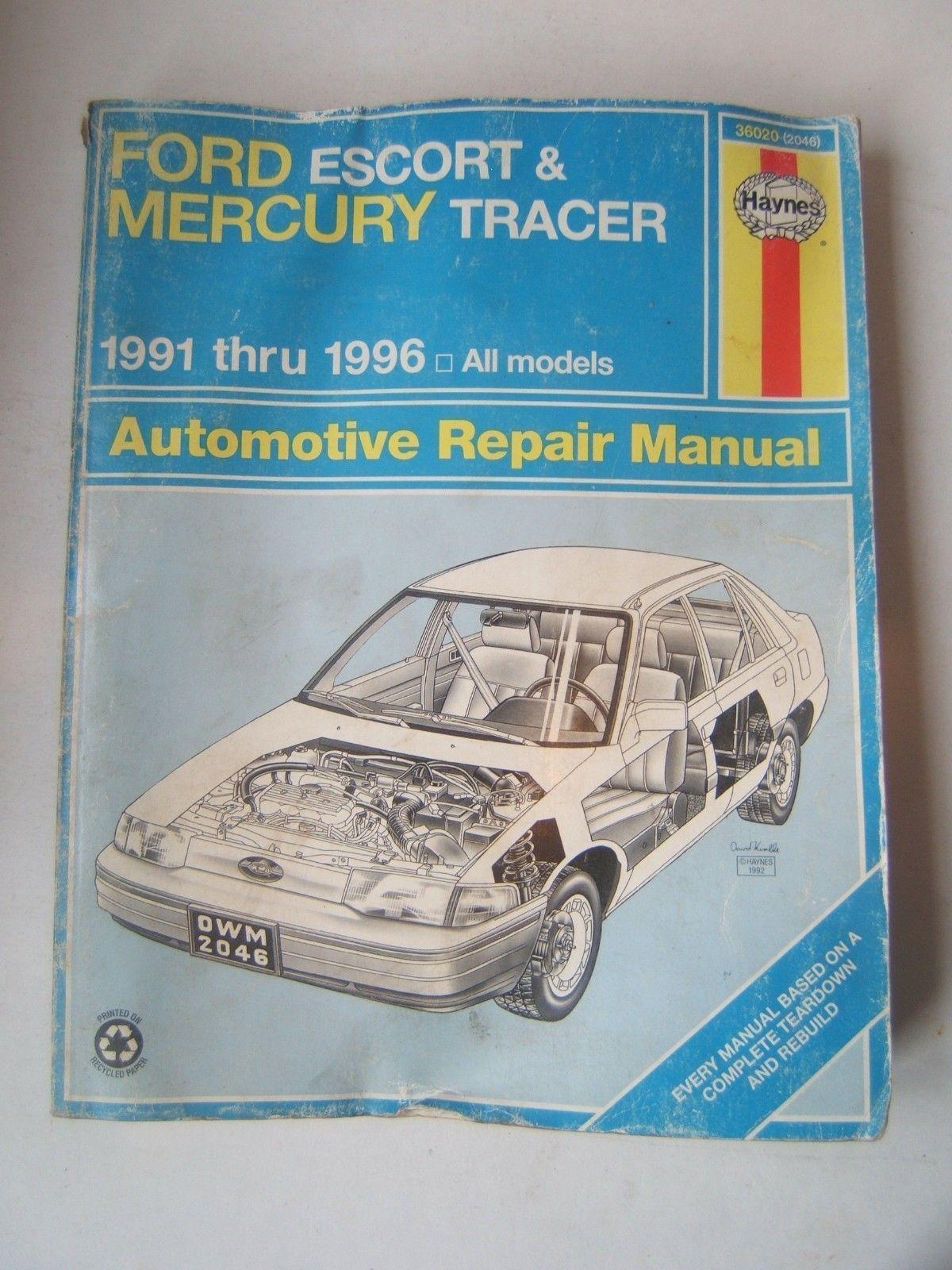 ford escort mercury tracer haynes repair and 13 similar items rh bonanza com Online Repair Manuals Haynes Repair Manual 1991 Honda Civic