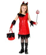 Little Devil Girl Halloween Costume by Princess Paradise Girls Size 10 New - $18.76