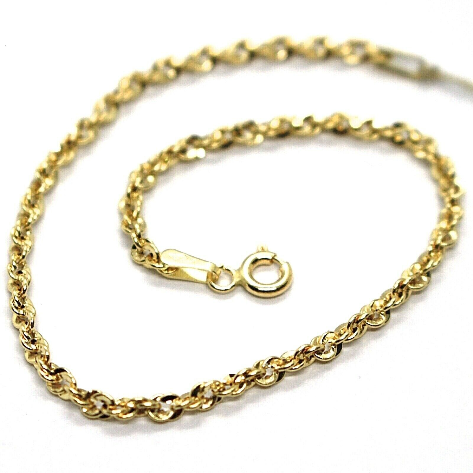 18K YELLOW GOLD ROPE MINI BRACELET, 7.1 INCHES, BRAIDED INFINITE FACETED LINK