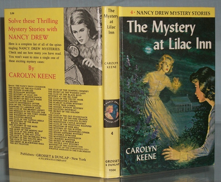 Nancy Drew #4 The Mystery at Lilac Inn LIKE NEW Vintage Matte Picture Cover