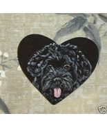 Portuguese Water Dog Custom Hand Painted Pin Brooch - $16.00