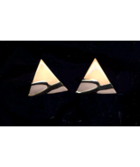 FREE WITH PURCHASE~Pink and Lavender enameled triangle pierced Earring  - $0.00