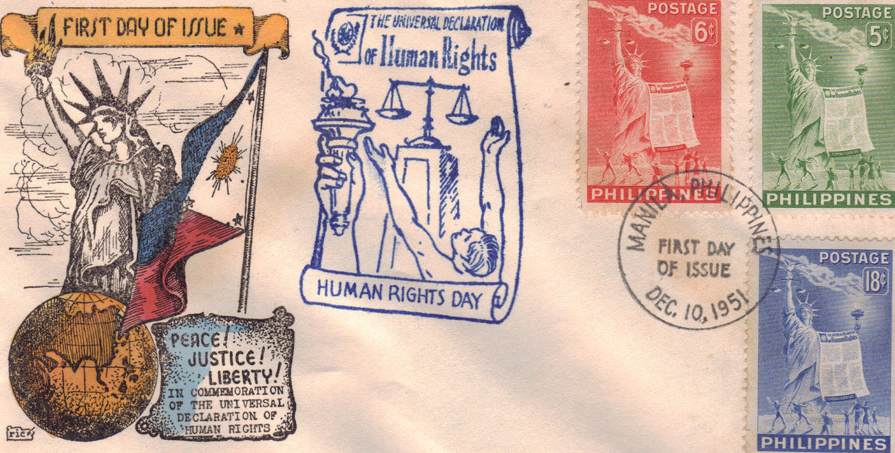 1st day issue human rights
