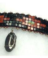 Red Jasper, Black Onyx, African Turquoise Gemstone Choker  Ethnic  - $199.99