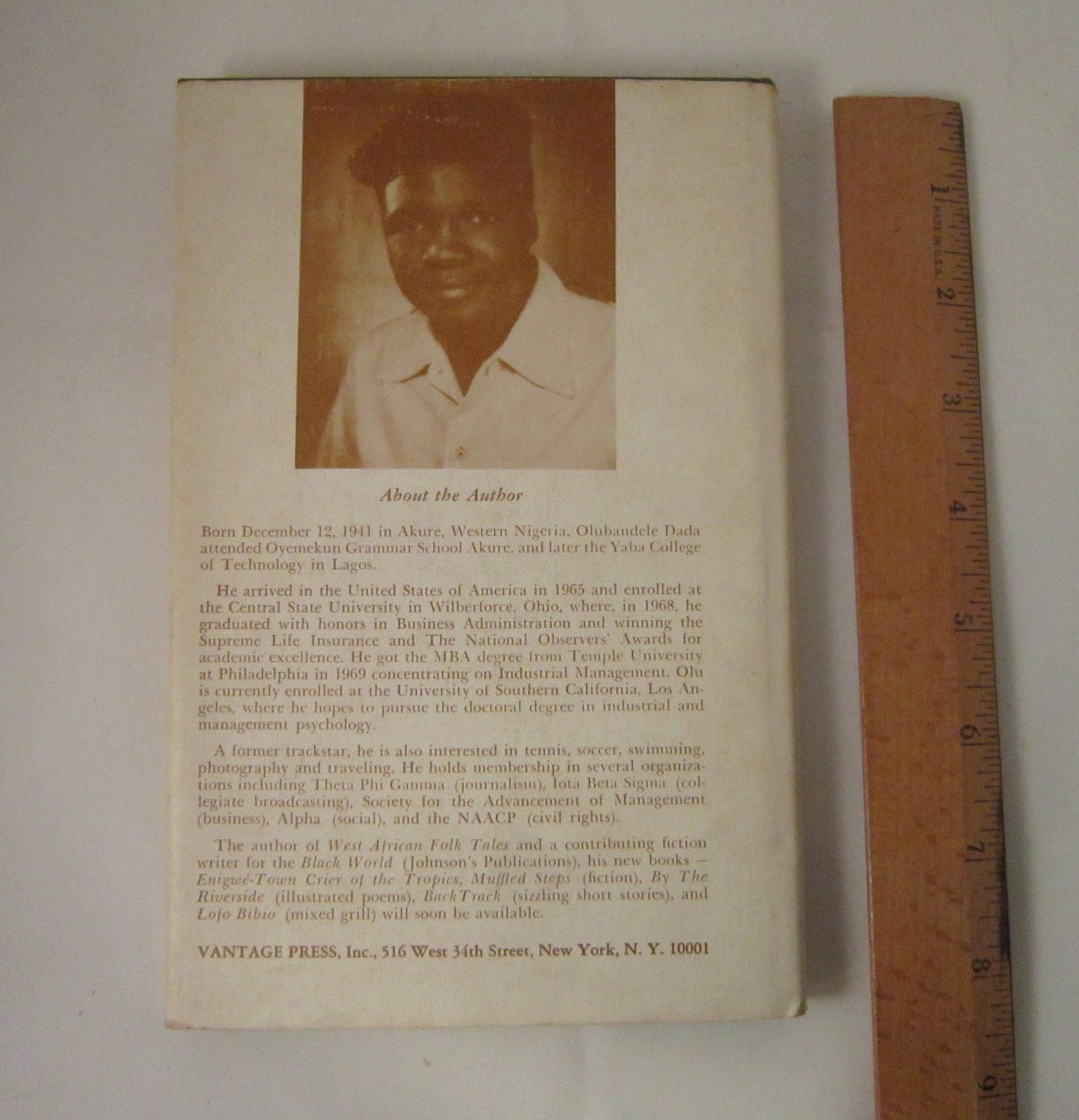 Poems of Penetration 1971 by Olubandele Dada from Nigeria, Hardback