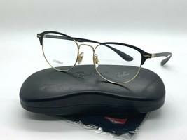 New Ray Ban Eyeglass Frames RB3596V 2994 BLACK/GOLD 54-19-145MM Demo Lenses - $77.57