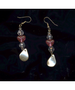 FREE WITH PURCHASE~Beaded Heart Drop pierced Earrings - $0.00