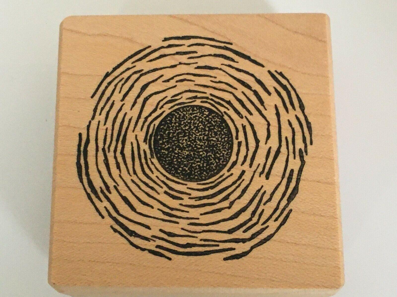Stampa Barbara Stamp Psychadelic Labyrinth Abstract Circle Maze Tree Rings - $4.50