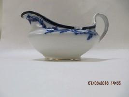 Alfred Meakin Flow Blue Gravy Sauce Boat Cobalt & White Gold trim no und... - $27.72