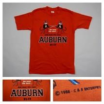 Vintage Auburn Tigers 1986 Iron Bowl NCAA Football 80s T-Shirt Men's Siz... - $39.99