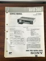 Sony AVU-360 AV Control Center Service Manual *Original* - $13.97