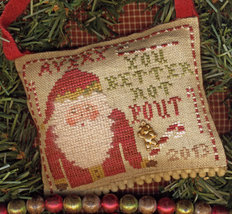 You Better Not Pout cross stitch chart Homespun Elegance - $7.20