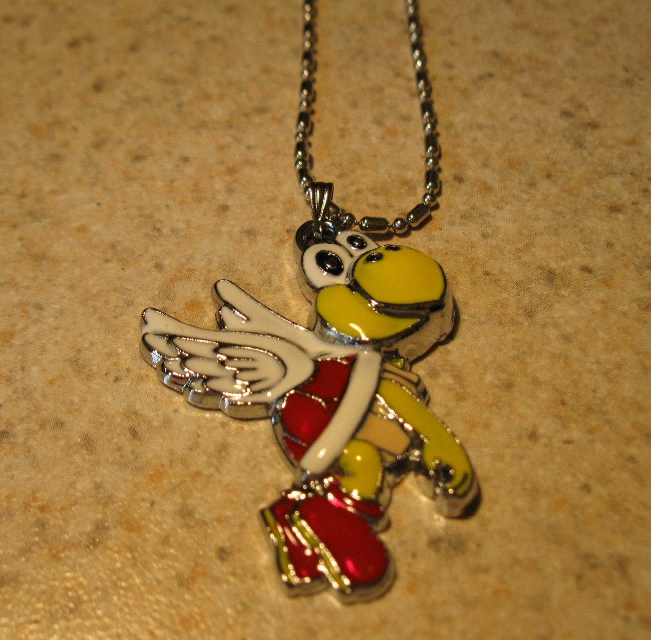 NECKLACE & PENDANT CHILDS RED FLYING KOOPA #490