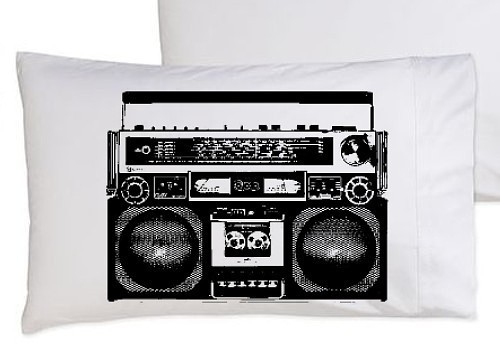 Boombox is not a toy pillow case